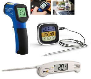 THERMOMETERS, TIMER AND SCALES