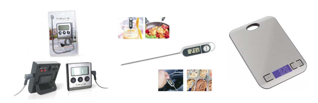 THERMOMETER-TIMER-WATCHES-SCALES