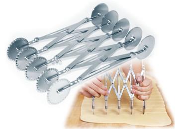 Tagliapasta doppio regolabile 10 rotelle