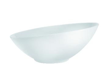 Insalatiera inclinata in porcellana Linea Square Classic di Royale