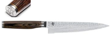Coltello damasco Shun Premier Kai Tim Malzer Pomodoro lama microdentata cm. 15