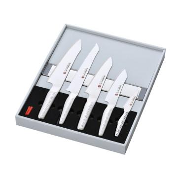 Set Global Ni: 5 coltelli Global Serie NI e barra magnetica