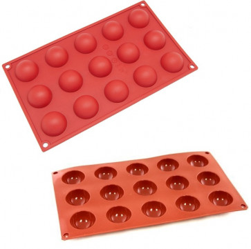 Stampi in silicone multiporzione 15 semisfere D. 4 cm