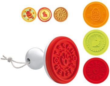 Stampo timbro per biscotti Pasqua 3 impronte