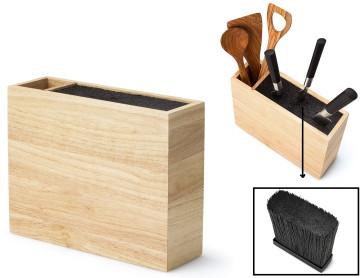 Ceppo in legno per coltelli e utensili