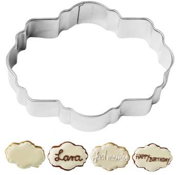 Tagliapasta a forma di Etichetta Poesia in acciaio inox