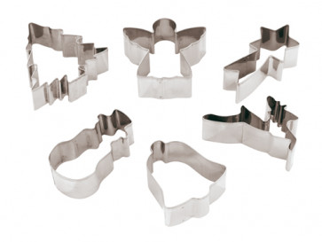 Set di 6 Tagliapasta LA FESTA DI NATALE in acciaio