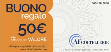 Buono Regalo - Gift Card Valore € 50,00