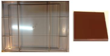 Stampo in policarbonato per cioccolato Tavoletta Grande 1100 grammi