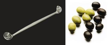 Cucchiaio per raccolta olive dal vaso, sue misure in inox