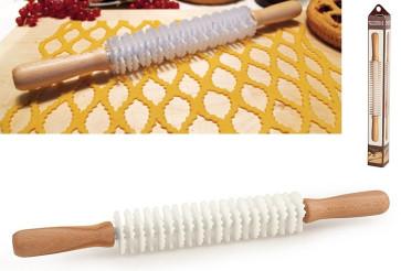 Mattarello tagliapasta taglio alternato per crostata 20 lame dentate