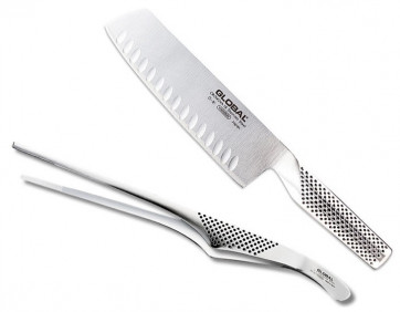 Set coltello e pinza da chef di Global G81 GS28