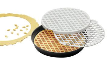 Kit Crostata: Tortiera antiaderente D. 32 + Stampo Decora Crostate