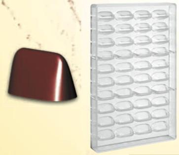 Stampo in policarbonato per cioccolato Gianduiotto