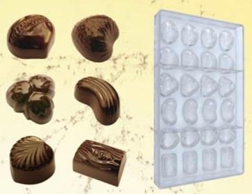 Stampo per cioccolatini in policarbonato 6 Praline