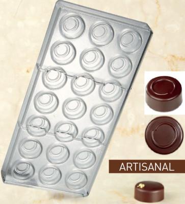 Stampo in policarbonato per cioccolato Linea Artisanal Tondo Linea