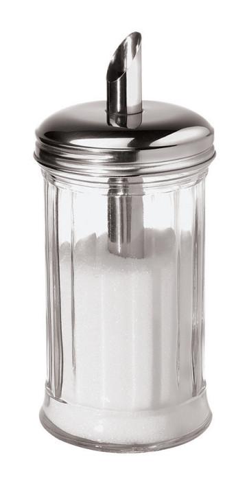 Dosatore vetro e inox per semi di lino, chia, girasole, zucca ...o dosatore zucchero