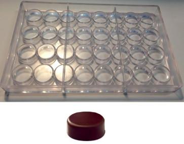 Stampo in policarbonato per cioccolatino a forma di Tondo Piatto