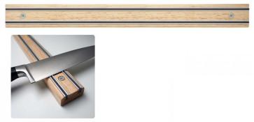 Appendicoltelli professionale - Barra magnetica per coltelli in Legno Lunghezza cm. 45
