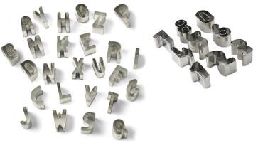 Lettere e Numeri: Tagliapasta lettere dell'alfabeto e numeri