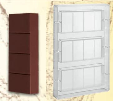 Stampo in policarbonato per Torrone gr. 200 o tavoletta di cioccolato