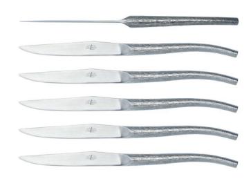 Set di 6 coltelli da bistecca progettati in collaborazione con Philippe Starck di Forge de Laguiole®