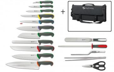 Tecna Color Full: Valigetta completa di 11 coltelli, 1 Acciaino e 4 accessori di Ambrogio Sanelli