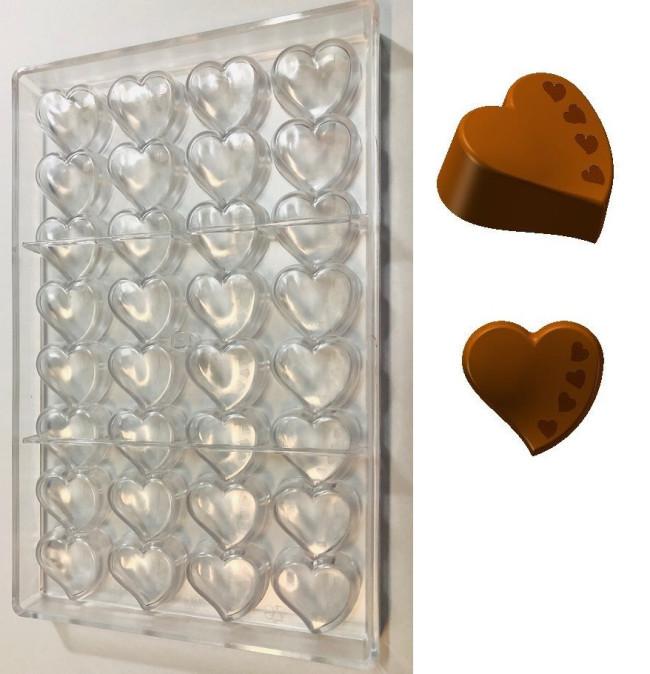 per PC e cioccolatini fai da te in policarbonato Stampo per cioccolatini 3D a forma di cuore per cioccolatini per cioccolatini fai da te per alimenti