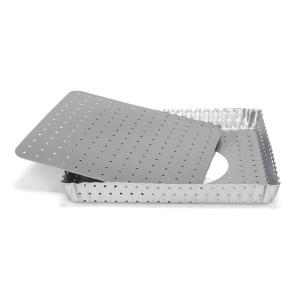 Tortiera Quadrata Quiche forata fondo rimovibile Linea Silver-Top di Patisse