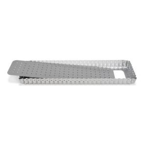 Tortiera Rettangolare stretta Quiche forata fondo rimovibile Linea Silver-Top di Patisse