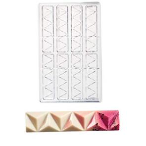 Stampo in policarbonato per cioccolato Snack Piramidi Choco Style di Martellato
