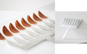 Pettine foglia Comb acciaio inox H 6 di Martellato Professional