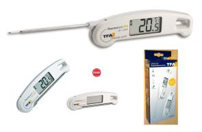 Termometro digitale con sonda a termocoppia chiudibile di TFA
