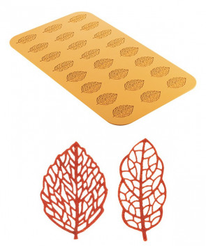 stampo silicone foglie Foresta Silikomart
