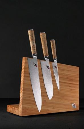 Shibumi - Semplicità elegante: Ceppo completo 3 coltelli damasco Miyabi 5000 MCD