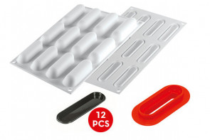 Fingers 30: Stampo silicone + cutter + 12 vassoi