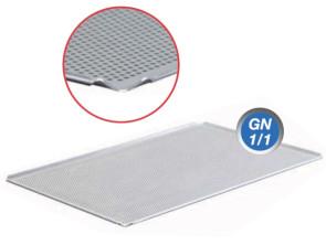 Teglia forata in alluminio con bordo