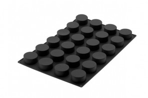 Stampo in silicone 24 cilindri D. 70 H 35 mm. Silikomart Professional