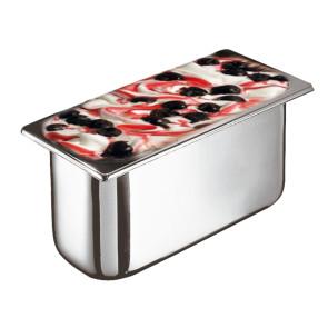 Bacinella per gelato in acciaio inox - Dim. cm. 36x16,5