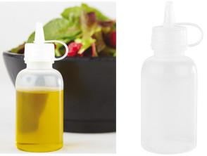 Flacone dosatore dosasalse, biberon, mini in polietilene per decorazione