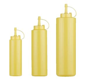 Flacone dosatore, biberon, dosasalse in polietilene - colore Giallo
