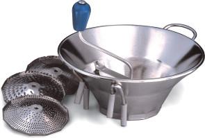Passaverdura in acciaio inox 3 griglie