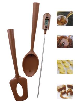 Set Spatola Cucchiaio e termometro