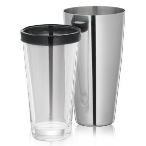 Cocktail Shaker ml. 400 acciaio inox e vetro