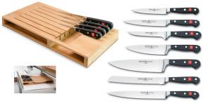 Ceppo Organiser completo di 7 coltelli Serie Classic di Wusthof