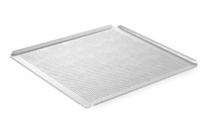 Teglia forata in alluminio GN 2/3 con bordi