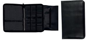 Pochette porta attrezzi da intaglio con 4 comparti, con cerniera Nero