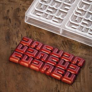 Ola: stampo in policarbonato per tavoletta di cioccolato di Pavoni Professional