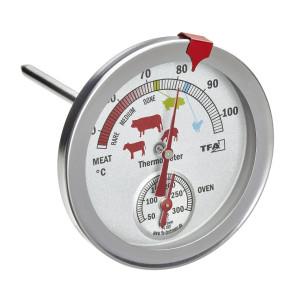 Termometro doppia rilevazione: temperatura del forno e dell'arrosto e grigliate