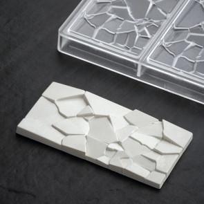 Crush: stampo in policarbonato per tavoletta di cioccolato di Pavoni Professional